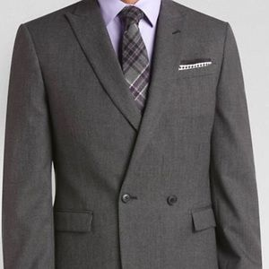Alta Moda Double Breasted Slim Fit Suit w/ Pants